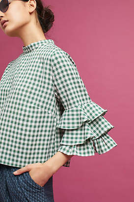 Sunday in Brooklyn Ruffled Gingham Top $88 thestylecure.com