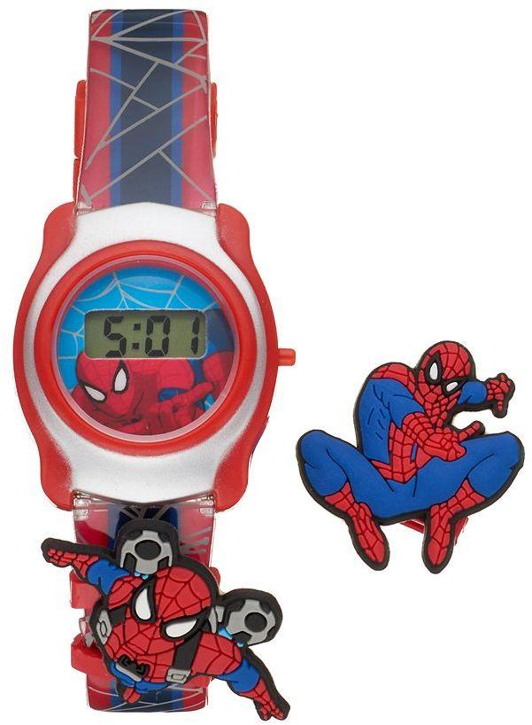 Marvel Spider-Man Boy's Interchangeable Digital Watch Set