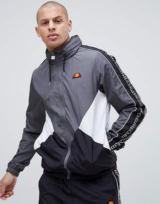 Ellesse Lapaccio Track Jacket With Logo Stripe Sleeve In Gray