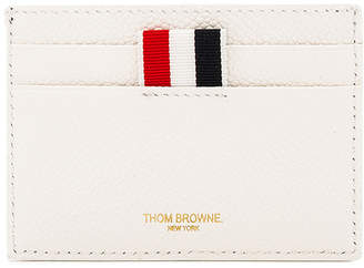 Thom Browne Pebble Grain & Calf Leather Tennis Racket Card Holder