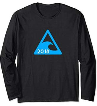 Simple 2018 Blue Wave Tsunami Long Sleeve Shirt