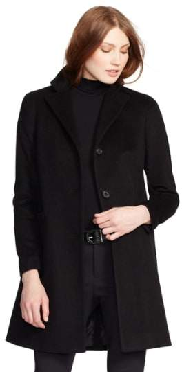 Lauren Ralph Lauren Paige Wool Blend Reefer Coat