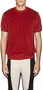 Givenchy Men's Embroidered Cotton-Blend Velour T-Shirt - Md. Red