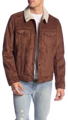 Levi's Faux Shearling Laydown Trucker Jacket