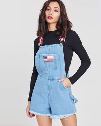 Missguided Retro Dungaree Shorts