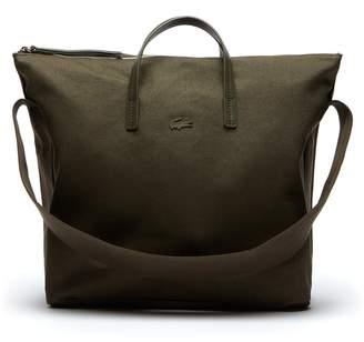 Lacoste Women's Suzie Shoulder Strap Monochrome Cotton Zip Tote Bag