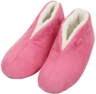 Forfoot House Slippers Women Size 9-10 Warm Comfortable Coral Fleece Shoes Indoor with Non Skid Soft Sole
