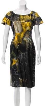 Alberta Ferretti Printed Knee-Length Dress w/ Tags
