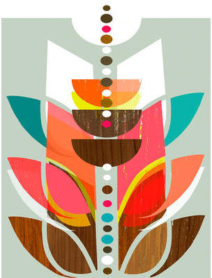 GreenBox Art 'Modern Topiary' by Linda Ketelhut Painting Print on Canvas