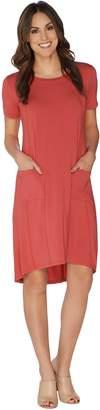 Logo By Lori Goldstein LOGO by Lori Goldstein Sanded Modal Dress with Hi-Low Hem