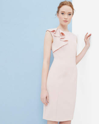 Ted Baker SURIAD Frill shoulder pencil dress