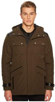 The Kooples Parka with Crossed Topstitching Men's Coat