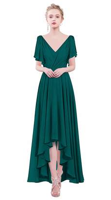 c0c76266ce43 ThaliaDress Womens Chiffon V Neck Hi-Lo Bridesmaid Dresses Prom Gowns  T088LF US