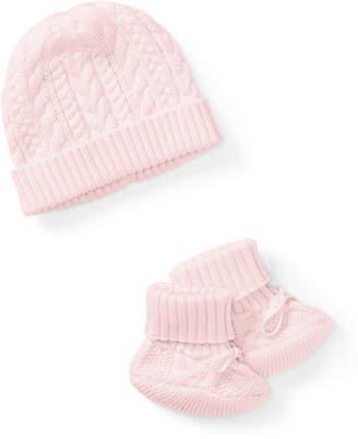 Ralph Lauren Childrenswear Cotton Accessory Set, Pink, Size Newborn-9 Months
