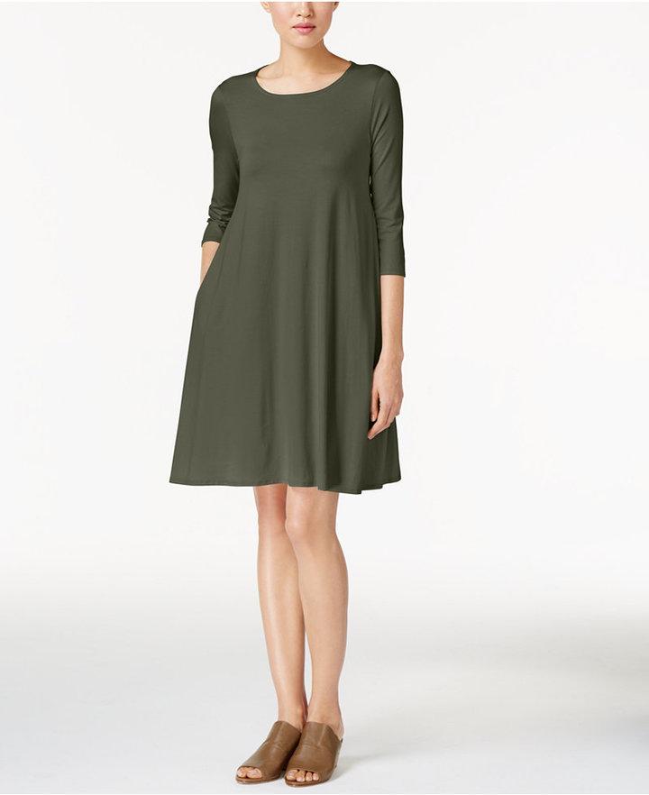 Eileen Fisher Lightweight Jersey Shift Dress 2