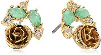 lonna & lilly Womens Gold Tone Cluster Stud Earrings