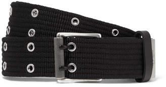 Rag & Bone Canvas And Leather Belt - Black