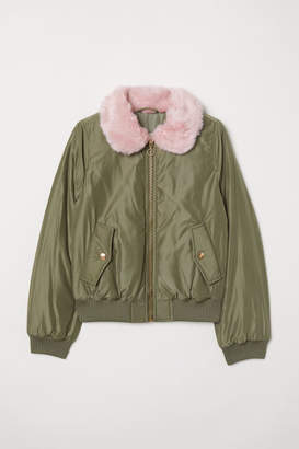 H&M Padded Bomber Jacket - Green