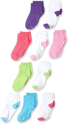 Hanes Big Girl's Comfortblend 10 Pack Ankle Socks