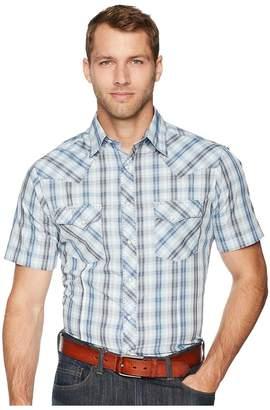 Wrangler Fashion Snap Short Sleeve Plaid Men's Short Sleeve Button Up