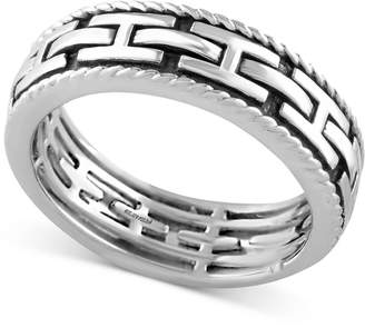 Effy Men's Chain-Look Textured Band in Sterling Silver
