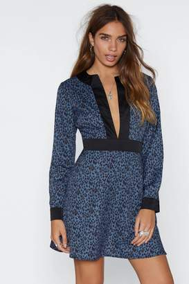 Nasty Gal Kitty Cat Leopard Dress