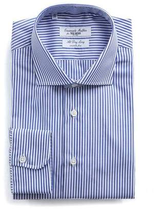 Todd Snyder Emanuele Maffeis + Banker Stripe Wrinkle Free Dress Shirt