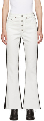 MM6 MAISON MARGIELA White and Black Two Tone Jeans