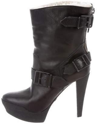 Burberry Platform High-Heel Boots Black Platform High-Heel Boots
