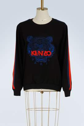 Kenzo Tiger embroidered crepe sweater