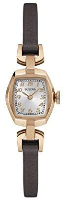 Bulova Women's Quartz Stainless Steel and Brown Leather Dress Watch (Model: 97L154)