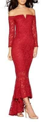 Quiz Glitter Lace Mermaid Gown