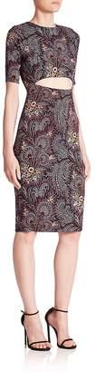 Suno Women's Printed Cutout Dress