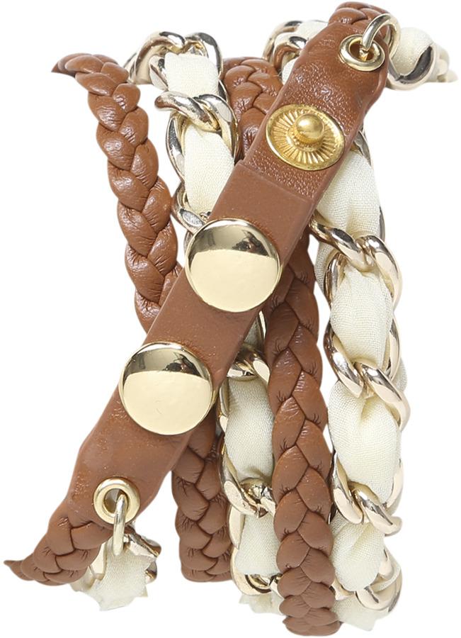 Wet Seal Chiffon Chain Wrap Watch