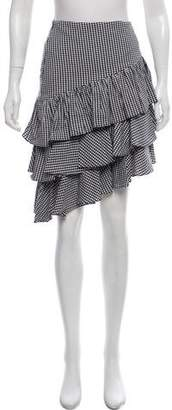 Intermix Asymmetrical Gingham Skirt