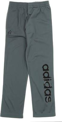 adidas Youth Linear Tricot Athletic Pants, Grey/Black