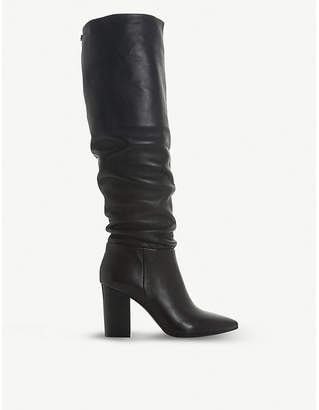 Steve Madden Sensai ruched leather knee-high boots