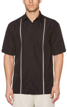 Cubavera Short Sleeve Button-Front Shirt-Big and Tall