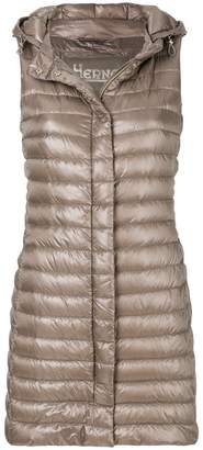 Herno long padded vest