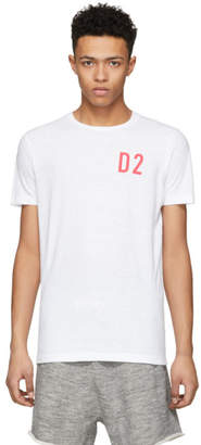 DSQUARED2 White D2 New Surf T-Shirt