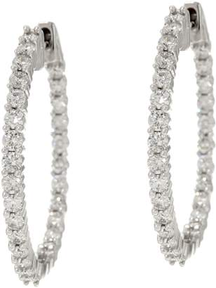 Affinity Diamond Jewelry Round Diamond Inside Out Hoop Earrings, 14K, 1.00 cttw, by Affinity