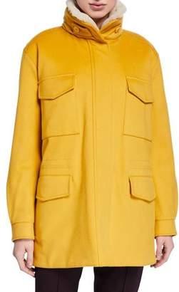 Loro Piana Traveler Cashmere Fur-Collar Maxi Storm Jacket