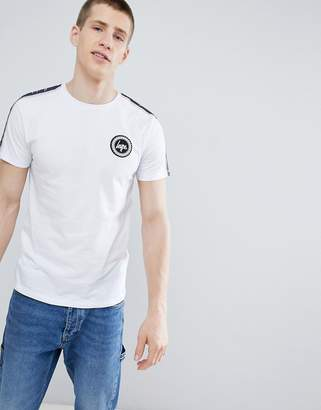 Hype t-shirt with side stripe in white