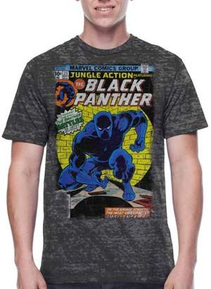 Super heroes Marvel Black Panther Jungle Action Cover Men's Graphic T-shirt, 2XL