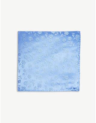 Duchamp Daisy plain print silk pocket square