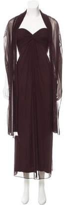 Tadashi Strapless Evening Dress w/ Tags