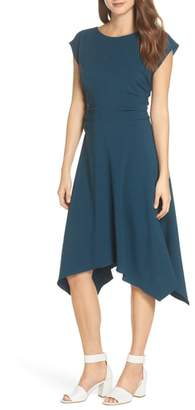 Julia Jordan Ruched Stretch Crepe Fit & Flare Dress
