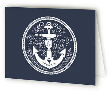 Anchor Tattoo Love Thank You Cards