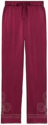 Gucci Satin pajama pant with crystals