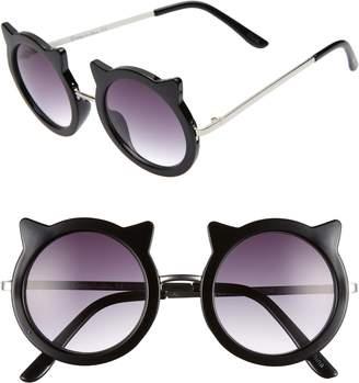 Sam Edelman 48mm Round Cat Sunglasses